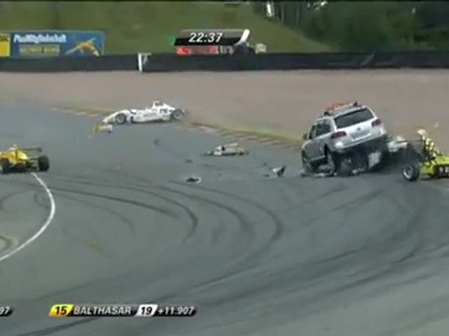 ADAC Race 3 Crash